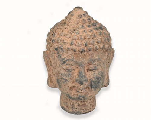 Reproduction Antique Stone 21cm Buddha Head